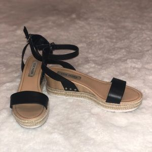 Steve Madden Wood Platform Sandals